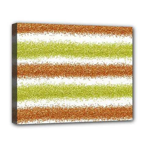 Metallic Gold Glitter Stripes Deluxe Canvas 20  x 16