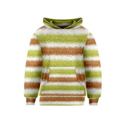 Metallic Gold Glitter Stripes Kids  Pullover Hoodie
