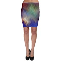 Metallizer Art Glass Bodycon Skirt