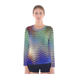 Metallizer Art Glass Women s Long Sleeve Tee