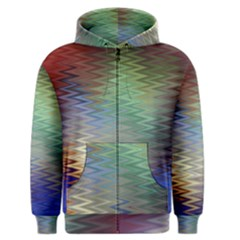Metallizer Art Glass Men s Zipper Hoodie
