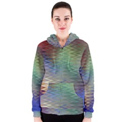 Metallizer Art Glass Women s Zipper Hoodie
