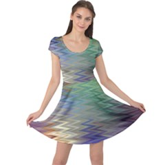 Metallizer Art Glass Cap Sleeve Dresses