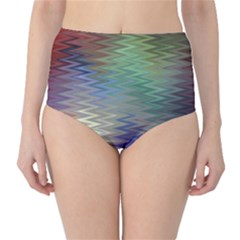 Metallizer Art Glass High Waist Bikini Bottoms