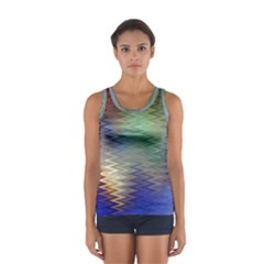 Metallizer Art Glass Women s Sport Tank Top