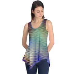 Metallizer Art Glass Sleeveless Tunic