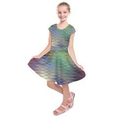 Metallizer Art Glass Kids  Short Sleeve Dress