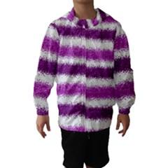 Metallic Pink Glitter Stripes Hooded Wind Breaker (kids)