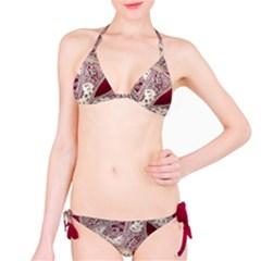 Morocco Motif Pattern Travel Bikini Set