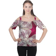 Morocco Motif Pattern Travel Women s Cutout Shoulder Tee