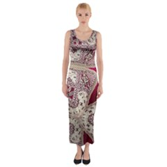 Morocco Motif Pattern Travel Fitted Maxi Dress