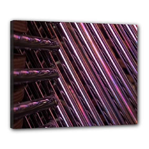 Metal Tube Chair Stack Stacked Canvas 20  X 16