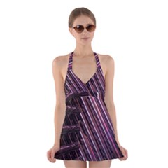Metal Tube Chair Stack Stacked Halter Swimsuit Dress