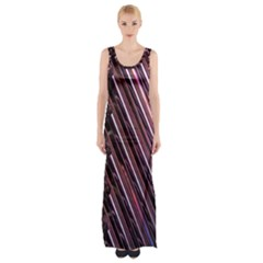 Metal Tube Chair Stack Stacked Maxi Thigh Split Dress