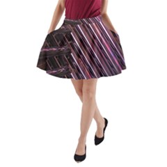 Metal Tube Chair Stack Stacked A-Line Pocket Skirt