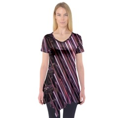 Metal Tube Chair Stack Stacked Short Sleeve Tunic