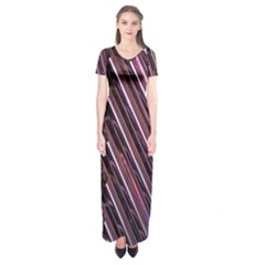 Metal Tube Chair Stack Stacked Short Sleeve Maxi Dress