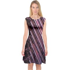 Metal Tube Chair Stack Stacked Capsleeve Midi Dress