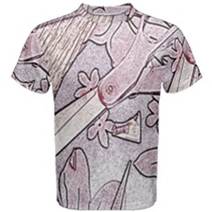 Newspaper Patterns Cutting Up Fabric Men s Cotton Tee