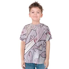 Newspaper Patterns Cutting Up Fabric Kids  Cotton Tee
