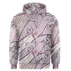 Newspaper Patterns Cutting Up Fabric Men s Pullover Hoodie