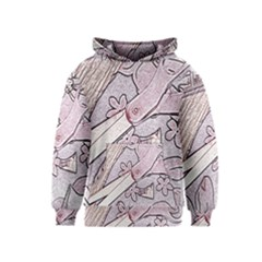 Newspaper Patterns Cutting Up Fabric Kids  Pullover Hoodie
