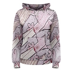 Newspaper Patterns Cutting Up Fabric Women s Pullover Hoodie