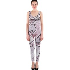 Newspaper Patterns Cutting Up Fabric OnePiece Catsuit