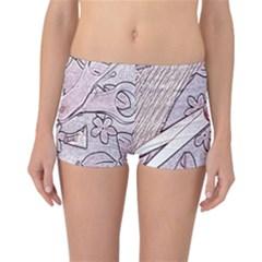 Newspaper Patterns Cutting Up Fabric Reversible Bikini Bottoms