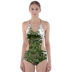 New Year S Eve New Year S Day Cut Out One Piece Swimsuit