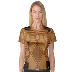 Mosaic The Elaborate Floor Pattern Of The Sydney Queen Victoria Building Women s V Neck Sport Mesh Tee