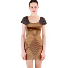 Mosaic The Elaborate Floor Pattern Of The Sydney Queen Victoria Building Short Sleeve Bodycon Dress