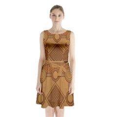 Mosaic The Elaborate Floor Pattern Of The Sydney Queen Victoria Building Sleeveless Chiffon Waist Tie Dress