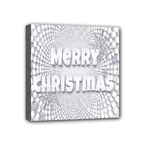 Oints Circle Christmas Merry Mini Canvas 4  X 4