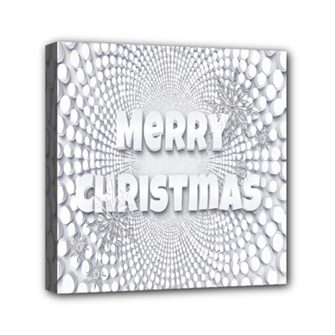 Oints Circle Christmas Merry Mini Canvas 6  X 6