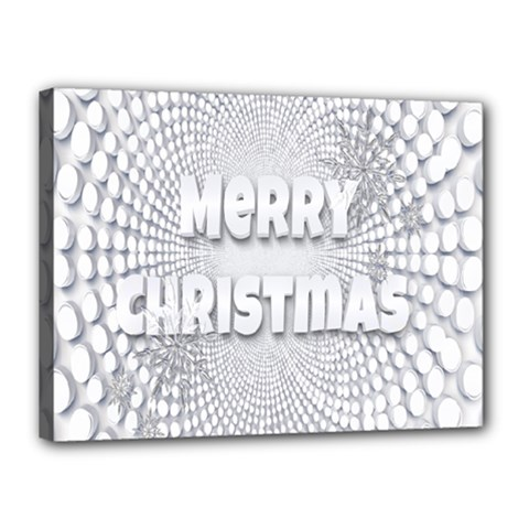 Oints Circle Christmas Merry Canvas 16  x 12