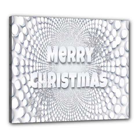 Oints Circle Christmas Merry Canvas 24  x 20