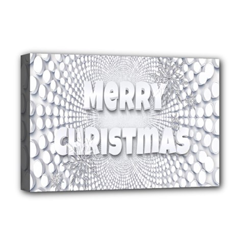 Oints Circle Christmas Merry Deluxe Canvas 18  X 12