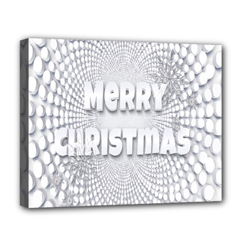 Oints Circle Christmas Merry Deluxe Canvas 20  X 16