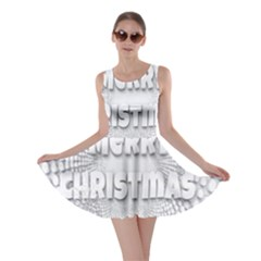 Oints Circle Christmas Merry Skater Dress