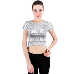 Oints Circle Christmas Merry Crew Neck Crop Top