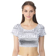 Oints Circle Christmas Merry Short Sleeve Crop Top (tight Fit)