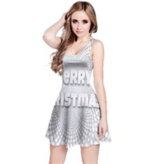 Oints Circle Christmas Merry Reversible Sleeveless Dress
