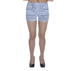 Oints Circle Christmas Merry Skinny Shorts