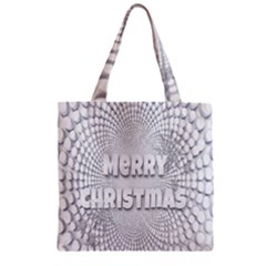Oints Circle Christmas Merry Zipper Grocery Tote Bag