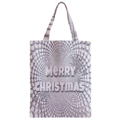 Oints Circle Christmas Merry Zipper Classic Tote Bag