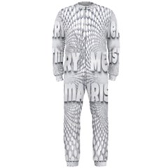 Oints Circle Christmas Merry OnePiece Jumpsuit (Men)