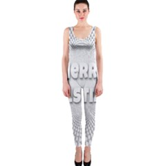 Oints Circle Christmas Merry OnePiece Catsuit