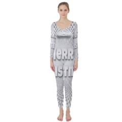 Oints Circle Christmas Merry Long Sleeve Catsuit