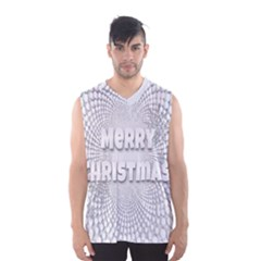Oints Circle Christmas Merry Men s Basketball Tank Top
